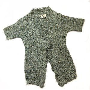 Anthro Moth | Pastel short sleeve knit cardigan